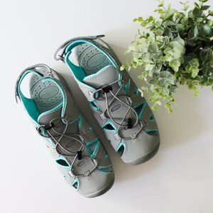 Eddie Bauer | Mary gray turquoise water sandal